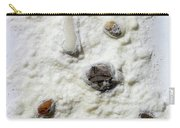 Pebbles In Snow Carry-all Pouch by Augusta Stylianou