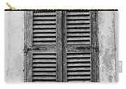 Peeling Shutters Black And White Carry-all Pouch