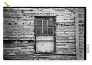 Peeling Wall And Cool Window At Fort Delaware On Film Carry-all Pouch