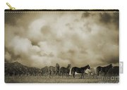 Peeples Valley Horses In Sepia Carry-all Pouch