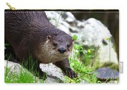 Peering Otter Carry-all Pouch