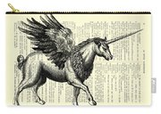 Pegasus Black And White Carry-all Pouch