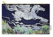 Pegasus Flying Over Stream Carry-all Pouch by Carol  Law Conklin