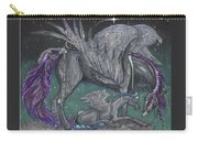 Pegasus Mare And Foal Carry-all Pouch