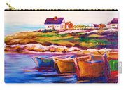 Peggys Cove  Four  Row Boats Carry-all Pouch