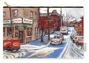 Peintures De Montreal Paintings Petits Formats A Vendre Restaurant Machiavelli Best Original Art   Carry-all Pouch