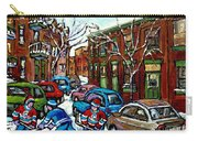 Peintures De Montreal Scene De Pointe St Charles Rue Grand Trunk Carry-all Pouch