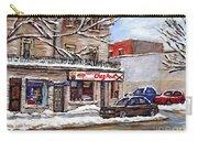 Peintures Petits Formats A Vendre Montreal Original Art For Sale Restaurant Chez Paul The Pointe Psc Carry-all Pouch
