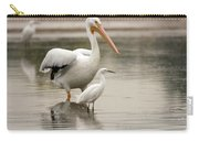 Pelican And Snowy Egret 6459-113017-1cr Carry-all Pouch