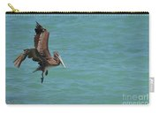 Pelican Contemplating A Water Landing In Aruba Carry-all Pouch