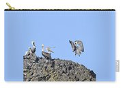 Pelican Landing On A Rock Carry-all Pouch