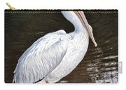 Pelican On Black Carry-all Pouch
