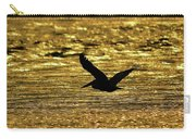 Pelican Silhouette - Golden Gulf Carry-all Pouch