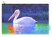 Pelican With Blue Carry-all Pouch