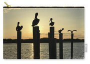 Pelicans At Sunset Carry-all Pouch
