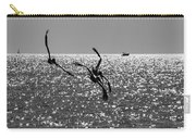 Pelicans Flying By - Black And White Carry-all Pouch