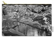 Pemaquid Point Lighthouse Maine Black And White Carry-all Pouch