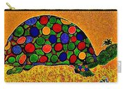 Pencil Sketch And Water Color Turtle Of The Rainbow Carry-all Pouch