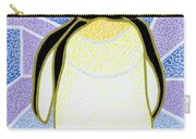 Penguin On Stained Glass Carry-all Pouch