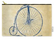 Penny-farthing 1867 High Wheeler Bicycle Vintage Carry-all Pouch by Nikki Marie Smith