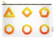 Penrose Triangle And Polygons Colored Carry-all Pouch