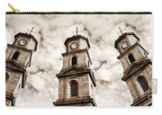 Penryn Clock Tower In Sepia Carry-all Pouch