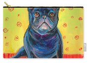 Pensive French Bulldog Painting Prints Carry-all Pouch