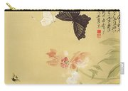 Peonies And Butterflies Carry-all Pouch