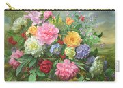 Peonies And Hydrangea Carry-all Pouch
