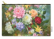 Peonies And Mixed Flowers Carry-all Pouch