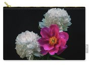 Peonies - Beautiful Flowers - On The Right Is One Of The First Places Among The Garden Perennials Carry-all Pouch