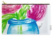 Peonies Mason Jar Carry-all Pouch