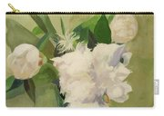 Peonies On Green Carry-all Pouch