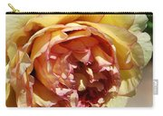 peony 19 Pale Yellow and Pink Tree Peony macro Carry-all Pouch