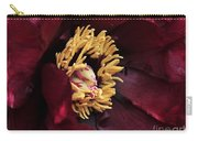peony 23 Deep Red Tree Peony Macro Carry-all Pouch