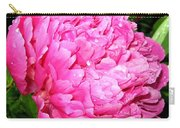 Peony And Raindrops Carry-all Pouch
