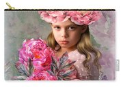 Peony Flower Child Carry-all Pouch