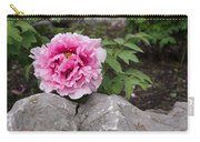 Peony On The Rocks - The Marvels Of Spring Carry-all Pouch
