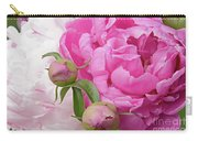 Peony Pair In Pink And White  Carry-all Pouch