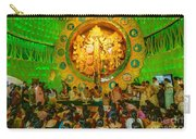 People Enjoying Inside Durga Puja Pandal Durga Puja Festival Carry-all Pouch