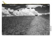 People On The Hill Bw Carry-all Pouch