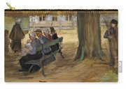 People Sitting On A Bench In Bezuidenhout. The Hague Carry-all Pouch