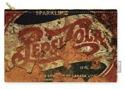 Pepsi Cola Vintage Sign 5b Carry-all Pouch