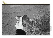 Perch Black And White Carry-all Pouch