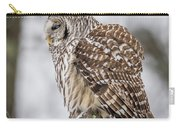 Perched Barred Owl Carry-all Pouch