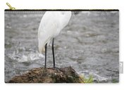 Perched Great Egret Carry-all Pouch
