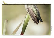 Perched Hummingbird On Flower Carry-all Pouch