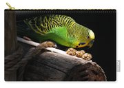Perched Parakeet Carry-all Pouch