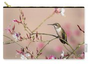Perching Ruby-throated Hummingbird Carry-all Pouch