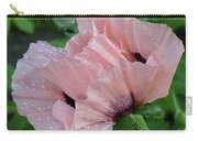Perfect Peach Poppy Carry-all Pouch